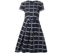 Kleid mit Falten und Karomuster