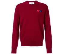 'Double Heart' Pullover - men - Wolle - M
