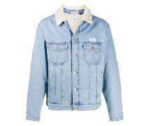 faux-shearling lined denim jacket