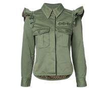- Military-Jacke mit gerüschten Schultern - women