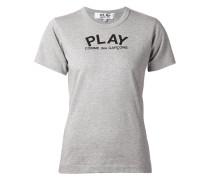 'Play' T-Shirt mit Herz-Print am Rücken