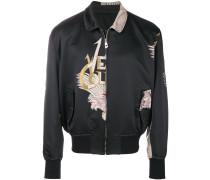 baroque jacquard bomber jacket