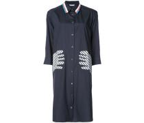 appliqué hands shirt dress
