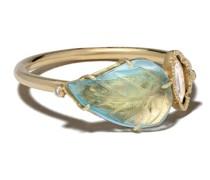 18kt 'Maya' Gelbgoldring mit Diamanten