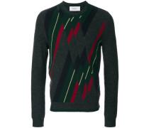 patchwork argyle jumper