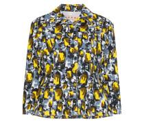 Cropped-Jacke mit floralem Muster
