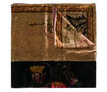floral-print velvet scarf
