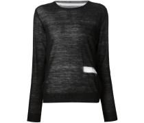 Pullover mit transparentem Einsatz