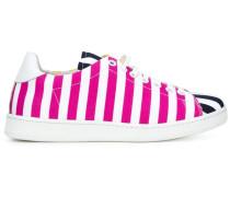 Gestreifte Sneakers mit Einsätzen