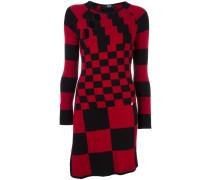 multi checked dress
