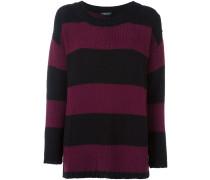 Gestreifter Pullover mit langem Schnitt