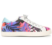 Sneakers mit Blatt-Print