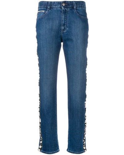 Halbhohe Boyfriend-Jeans