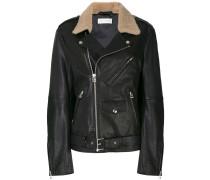 fur collar biker jacket
