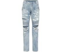 Biker-Jeans im Distressed-Look