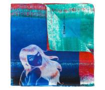 Seideneinstecktuch mit Meerjungfrauen-Print