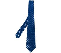 polka dot pattern tie - men - Seide