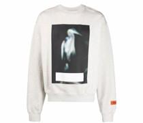 Sweatshirt mit Reiher-Print