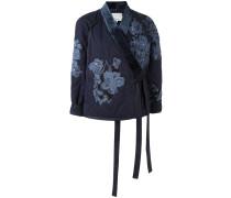 Kimono-Jacke mit Blumenstickereien