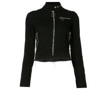 Cropped-Jacke mit hohem Kragen - women