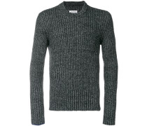 Pullover mit geripptem Kragen