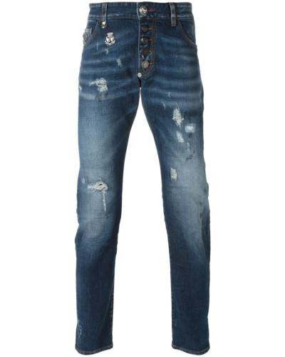 philipp plein herren jeans mit schmalem schnitt reduziert. Black Bedroom Furniture Sets. Home Design Ideas