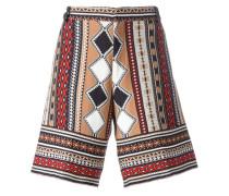 Gestrickte Shorts mit Intarsienmuster