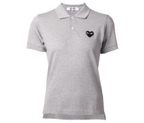 Poloshirt mit aufgesticktem Logo-Patch