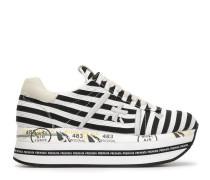 Gestreifte Plateau-Sneakers
