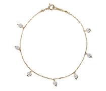 14kt Goldkettenarmband mit Perlen
