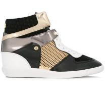 High-Top-Sneakers mit Metallic-Einsätzen