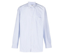 Button-down-Hemd mit Nadelstreifen