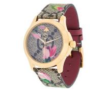 floral strap watch