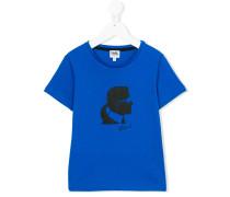 T-Shirt mit Logo-Print - kids - Baumwolle - 8 J.