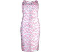 Schulterfreies Jacquard-Kleid