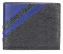 textured stripe bifold wallet