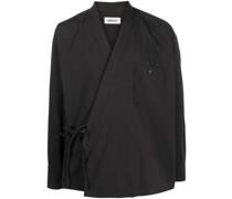 Kimono-Hemd mit Schleifenverschluss