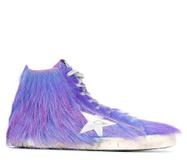 'Francy' High-Top-Sneakers aus Ponyfell