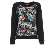 Pullover mit abstraktem Blumen-Muster