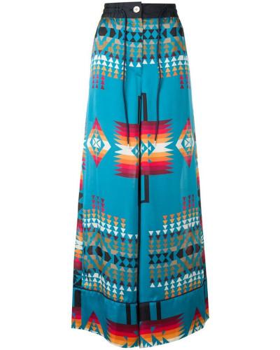 Palazzohose mit Navajo-Muster