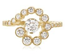 18kt Escargot de Diamant Gelbgoldring