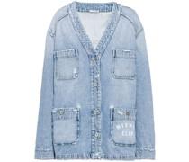 Jeansjacke mit V-Ausschnitt