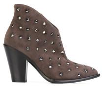 stud embellished ankle boots