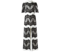 lace panelled gown