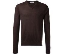 Wollpullover mit V-Ausschnitt - men - Wolle - XL