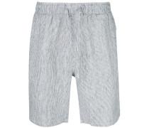 Gestreifte 'Noah' Leinen-Shorts