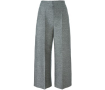 Melierte Cropped-Culottes