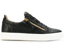 'Frankie' Sneakers in Krokodilleder-Optik