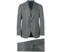 pinstripe two-piece suit