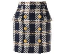 tweed high-waist skirt